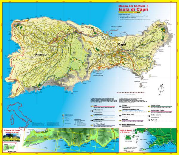 Cartina Costiera Amalfitana E Capri.Cart Guide Le Mappe E Le Guide Turistiche Della Costiera Amalfitana Salerno Sorrento E Capri